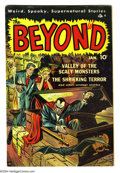 Golden Age (1938-1955):Horror, Beyond #2 (Ace, 1951) Condition: VG+. Overstreet 2003 VG 4.0 value= $58....