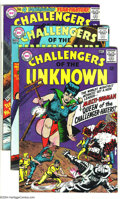 Silver Age (1956-1969):Adventure, Challengers of the Unknown Group (DC, 1965-69) Condition: Average VG. This group includes #45 (two copies), 46-48, 51-54, 56... (Total: 19 Comic Books Item)