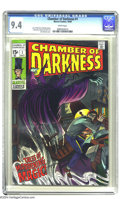 Silver Age (1956-1969):Horror, Chamber of Darkness #1 (Marvel, 1969) CGC NM 9.4 White pages. John Romita cover. Stan Lee, Denny O'Neil, and Gary Friedrich ...