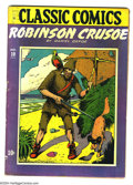 Golden Age (1938-1955):Classics Illustrated, Classic Comics #10 Robinson Crusoe First Edition (Gilberton, 1943)Condition: VG. Original first printing (violet cover). Ov...