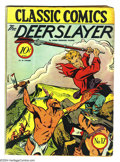Golden Age (1938-1955):Classics Illustrated, Classic Comics #17 The Deerslayer First Edition (Gilberton, 1944)Condition: VG+. Original first printing. Overstreet 2003 V...