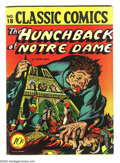 Golden Age (1938-1955):Classics Illustrated, Classic Comics #18 The Hunchback of Notre Dame First Edition(Island, 1944) Condition: VG/FN. Original first printing. Overs...