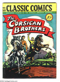 Golden Age (1938-1955):Classics Illustrated, Classic Comics #20 The Corsican Brothers First Edition (Courier,1944) Condition: VG/FN. Original first printing. Overstreet...