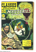 Golden Age (1938-1955):Classics Illustrated, Classics Illustrated #40 Mysteries First Edition (Gilberton, 1947) Condition: VG+. Edgar Allan Poe adaptations. Original fir...