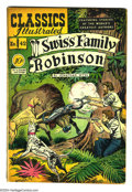 Golden Age (1938-1955):Classics Illustrated, Classics Illustrated #42 Swiss Family Robinson - First Edition(Gilberton, 1947) Condition: VG. Original first printing. Ove...