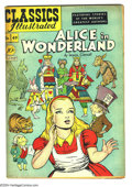 Golden Age (1938-1955):Classics Illustrated, Classics Illustrated #49 Alice in Wonderland - First Edition (Gilberton, 1948) Condition: FN+. Original first printing. Over...