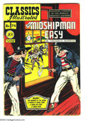 Golden Age (1938-1955):Classics Illustrated, Classics Illustrated #74 Mr. Midshipman Easy - First Edition(Gilberton, 1950) Condition: VG+. Original first printing. Over...