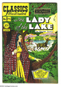 Golden Age (1938-1955):Classics Illustrated, Classics Illustrated #75 The Lady of the Lake - First Edition(Gilberton, 1950) Condition: VF-. Original first printing. Ove...