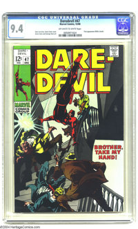 Daredevil #47 (Marvel, 1968) CGC NM 9.4 Off-white to white pages. First appearance of Willie Lincoln. Gene Colan cover...