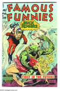 Golden Age (1938-1955):Science Fiction, Famous Funnies #210 (Eastern Color, 1954) Condition: VG+. FrankFrazetta cover. Buck Rogers story. Overstreet 2003 VG 4.0 va...