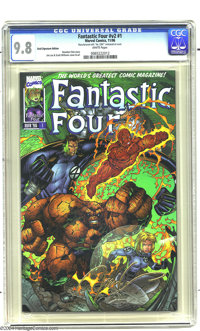 Fantastic Four (second series - 1996) V2#1 (Marvel, 1996) Gold Signature Edition CGC NM/MT 9.8 White pages. Jim Lee and...