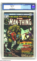 Bronze Age (1970-1979):Superhero, Man-Thing #5 (Marvel, 1974) CGC NM+ 9.6 White pages. Overstreet 2003 NM 9.4 value = $14....