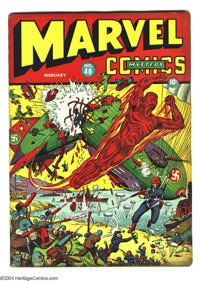 Marvel Mystery Comics #40 (Timely, 1943) Condition: GD-. Zeppelin cover. Overstreet 2003 GD 2.0 value = $174