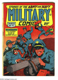 Golden Age (1938-1955):War, Military Comics #37 (Quality, 1945) Condition: FN+. Overstreet 2003FN 6.0 value = $165....