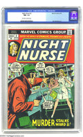 Bronze Age (1970-1979):Miscellaneous, Night Nurse #3 (Marvel, 1973) CGC NM- 9.2 Off-white to white pages.Win Mortimer art. Overstreet 2003 NM 9.4 value = $90....
