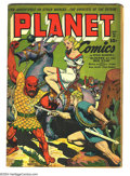 Golden Age (1938-1955):Science Fiction, Planet Comics #28 (Fiction House, 1944) Condition: GD/VG. GrahamIngels and Joe Doolin art. Overstreet 2003 GD 2.0 value = $...
