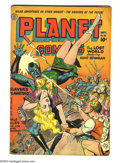 Golden Age (1938-1955):Science Fiction, Planet Comics #32 (Fiction House, 1944) Condition: VG-. Artistsinclude Joe Kubert and Joe Doolin. Overstreet 2003 VG 4.0 va...