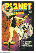 Golden Age (1938-1955):Science Fiction, Planet Comics #39 (Fiction House, 1945) Condition: VG/FN. Slightwater stains on last few pages. Overstreet 2003 VG 4.0 valu...