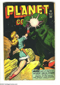 Golden Age (1938-1955):Science Fiction, Planet Comics #47 (Fiction House, 1947) Condition: VG+. GeorgeEvans and Murphy Anderson art. Overstreet 2003 VG 4.0 value =...