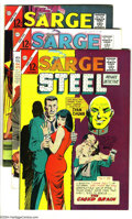 Silver Age (1956-1969):Mystery, Sarge Steel Group (Charlton, 1964-66) Condition: Average FN+. Thisgroup includes #2, 4, 5-9, and Secret Agent #10. Dick... (Total: 8Comic Books Item)