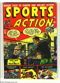 Sports Action #10 (Atlas, 1952) Condition: FN/VF. Joe Maneely cover. Overstreet 2003 FN 6.0 value = $66; VF 8.0 value =...