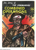 Golden Age (1938-1955):War, The Story of the Commandos #nn (Long Island Independent, 1943)Condition: FN+. All text (no comics). Photos and illustration...