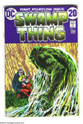 Bronze Age (1970-1979):Horror, Swamp Thing #1 (DC, 1972) Condition: FN/VF. Bernie Wrightson art.Overstreet 2003 FN 6.0 value = $36; VF 8.0 value = $89....