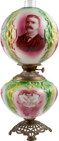 Political:3D & Other Display (1896-present), Theodore Roosevelt: Presidential Gone with the Wind Lamp. ... (Total: 2 Items)