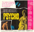 Movie Posters:Hitchcock, Psycho (Paramount, 1960). Very Fine+ on Linen. Six...