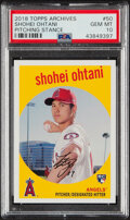 Baseball Cards:Singles (1970-Now), 2018 Topps Archives Shohei Ohtani (Pitching Stance) #50 PSA Gem Mint 10....