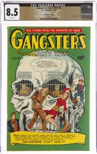 Gangsters Can't Win #2 The Promise Collection Pedigree (D.S. Publishing, 1948) CGC VF+ 8.5 White pages