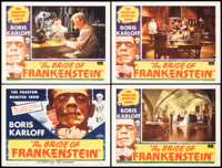 """The Bride of Frankenstein (Realart, R-1953). Very Fine-. Lobby Card Set of 4 (11"""" X 14""""). Horror. ... (Total:..."""