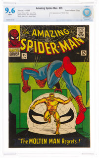 The Amazing Spider-Man #35 Suscha News Copy Pedigree (Marvel, 1966) CBCS NM+ 9.6 White pages