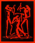 Prints & Multiples, Cleon Peterson (b. 1973). Sirens (Red), 2021. Screenprint on Coventry Rag paper. 32 x 26 inches (81.3 x 66 cm) (sheet). ...