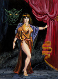 Don Greer (American, 20th Century) Succubus, Down in the Dungeon interior book illustration, 1981 Gouache and airbrush...