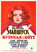 Movie Posters:Drama, The Woman in Red (Warner-First National, 1935). Folded, Ve...