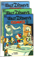 Golden Age (1938-1955):Funny Animal, Walt Disney's Comics and Stories Group (Dell, 1950-57) Condition:Average VG+. This group includes #113, 117, 125, 131, 132,...(Total: 14 Comic Books Item)