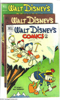 Golden Age (1938-1955):Funny Animal, Walt Disney's Comics and Stories Group (Dell, 1951-53) Condition:Average: VG. This group includes #128, 135, 137, 140-142, ...(Total: 12 Comic Books Item)