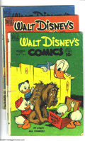 Golden Age (1938-1955):Funny Animal, Walt Disney's Comics and Stories Group (Dell, 1949-51) Condition:Average GD. This group includes #111-115, 118-124, and 127...(Total: 13 Comic Books Item)