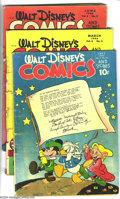 Golden Age (1938-1955):Funny Animal, Walt Disney's Comics and Stories Group (Dell, 1945-47) Condition:Average GD. This group includes #58, 66, 69, 70, 72, 83, a...(Total: 7 Comic Books Item)