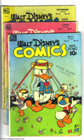 Golden Age (1938-1955):Funny Animal, Walt Disney's Comics and Stories Group (Dell, 1948-49) Condition:Average GD. This group includes #92, 93, 96, 97, 100, 102,...(Total: 10 Comic Books Item)