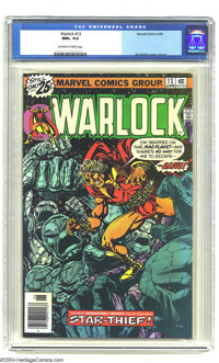 Warlock #13 (Marvel, 1976) CGC NM+ 9.6 Off-white to white pages. Jim Starlin art. Overstreet 2003 NM 9.4 value = $12