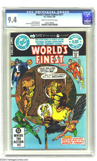 World's Finest Comics #277 (DC, 1982) CGC NM 9.4 Cream to off-white pages. George Perez cover. Don Heck art. Overstreet...