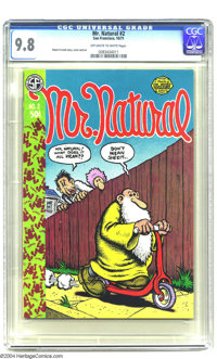 Mr. Natural #2 (Apex Novelties, 1971) CGC NM/MT 9.8 Off-white to white pages. Robert Crumb story, cover, and interior ar...