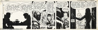 Milton Caniff - Terry and the Pirates Daily with Dragon Lady dated 2-23-45 Original Art Comic Strip Art (Chicago Tribune...