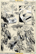 Original Comic Art:Splash Pages, Rudy Florese and Joe Kubert - Tarzan #248, page 14 Original Art (DC, 1978). Script and page layouts: Joe Kubert, finished ar...