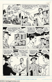 Russ Heath - Original Art for Rocketeer Movie Adaptation, Lot of 4 Pages (1991). Lot of 4 includes pages 13, 29, 60, and...