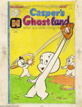 Original Comic Art:Covers, Warren Kremer - Casper's Ghostland #90 Cover and Color GuideOriginal Art (Harvey, 1976). Warren Kremer grand slams the art ...(Total: 2 items Item)