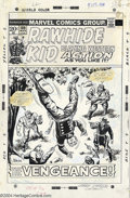 Original Comic Art:Covers, Larry Lieber and George Roussos - Original Cover Art for TheRawhide Kid #109 (Marvel, 1973). The Rawhide Kid is snared as a...