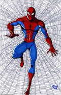 Original Comic Art:Splash Pages, JE Smith - Spider-Man Original Illustration (2004). Is he strong?Listen, bud -- he's got radioactive blood! Here is a cool ...